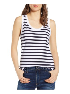 AG Adriano Goldschmied cambria stripe fitted tank