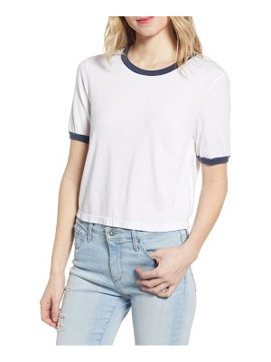 AG Adriano Goldschmied coney ringer crop tee