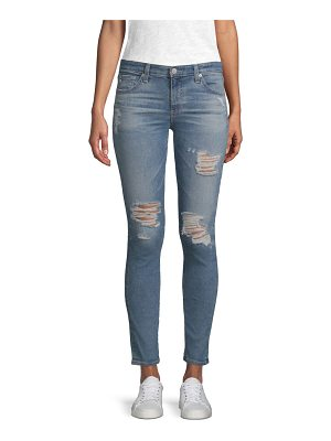 AG Adriano Goldschmied distressed super skinny ankle jeans