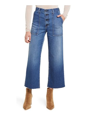 AG Adriano Goldschmied etta fatigue button fly crop flare jeans