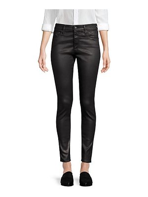 AG Jeans farrah ankle high-rise coated skinny jeans