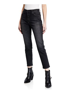 AG Adriano Goldschmied Isabelle High-Rise Button-Up Straight Jeans