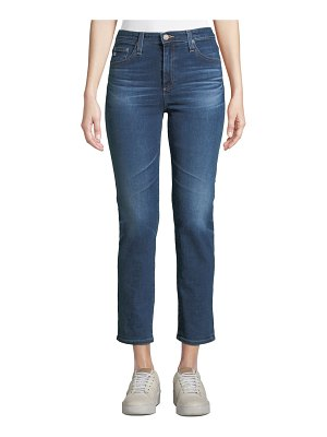 AG Adriano Goldschmied Isabelle High-Rise Cropped Straight-Leg Jeans