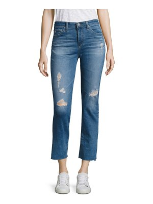 AG Adriano Goldschmied Jodi Distressed Medium Wash Cropped Flare Jeans