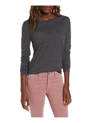 AG Adriano Goldschmied lb heathered long sleeve stretch cotton tee