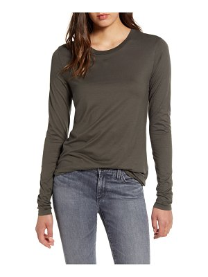 AG Adriano Goldschmied lb long sleeve stretch cotton top