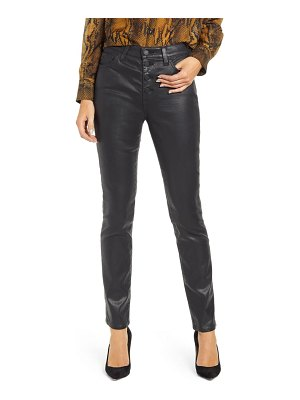 AG Adriano Goldschmied mari coated slim straight leg jeans