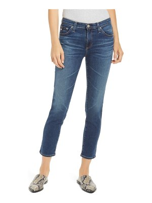 AG Adriano Goldschmied prima mid rise distressed crop cigarette jeans