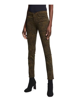 AG Adriano Goldschmied Prima Mid-Rise Printed Skinny Jeans