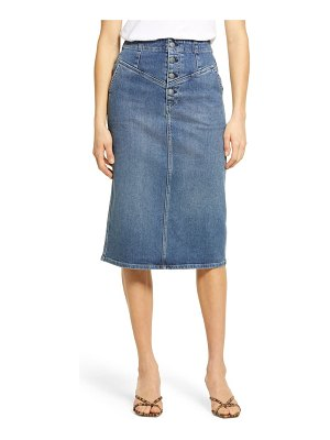 AG Adriano Goldschmied selina yoke detail denim skirt