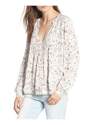 AG Adriano Goldschmied sia floral plunge top