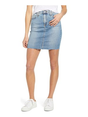AG Adriano Goldschmied the erin distressed denim miniskirt