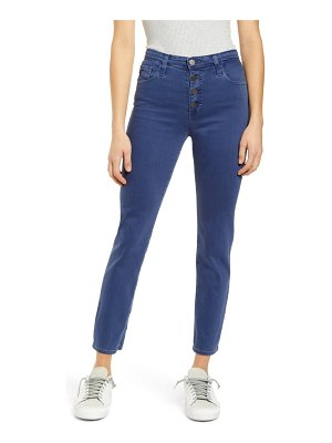 AG Adriano Goldschmied the isabelle button fly high waist ankle straight leg jeans
