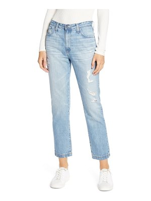 AG Adriano Goldschmied the isabelle high waist crop straight leg jeans