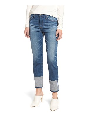 AG Adriano Goldschmied the isabelle high waist cuff crop straight leg jeans