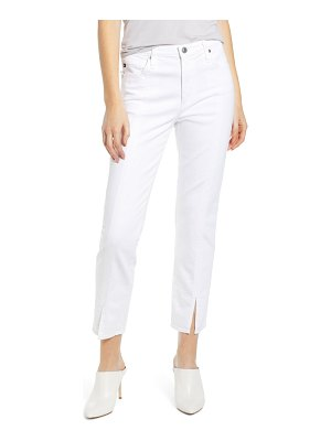 AG Adriano Goldschmied the isabelle high waist split hem ankle straight leg jeans