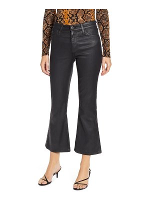 AG Adriano Goldschmied the quinne coated high waist crop flare jeans