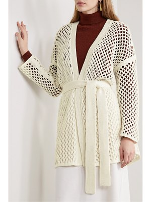 Agnona belted open-knit cardigan