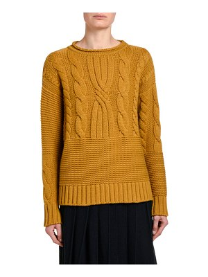 Agnona Cashmere Cable-Knit Sweater