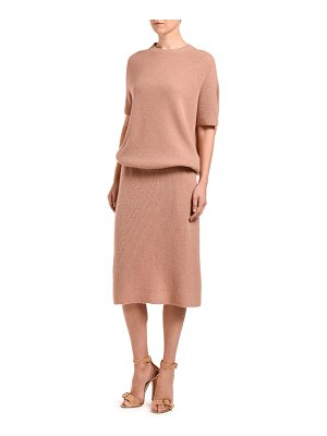 Agnona Cashmere Knit Blouson Dress