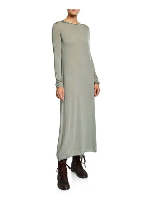Agnona Cashmere Long-Sleeve Maxi Dress