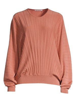 Agnona dolman sleeve pleated wool top