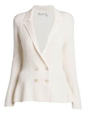 Agnona double-breasted peplum wool knit jacket