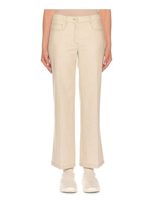 Agnona Mid-Rise Cropped Wool Denim Trousers