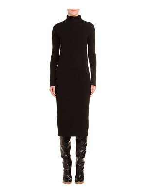 Agnona Mock-Neck Wool Pencil Dress