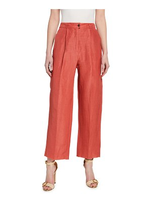 Agnona Pleated Stretch-Cotton Easy Pants