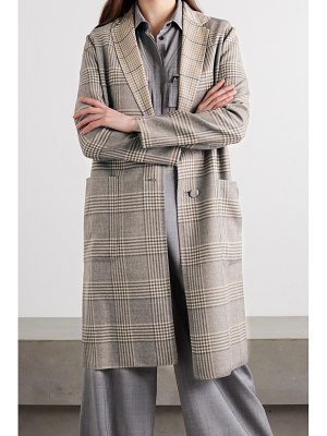 Agnona reversible checked cashmere coat