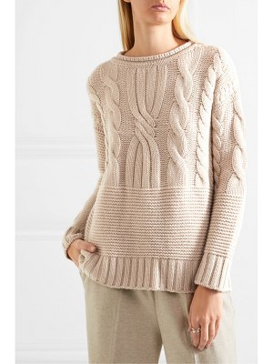 Agnona ribbed cable-knit cashmere sweater