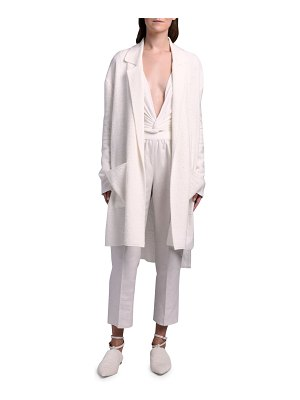 Agnona Silk-Linen Knit Duster Coat