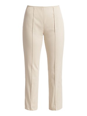 Agnona stretch cotton side zip pants