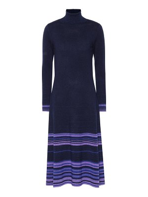 Agnona striped cashmere-blend dress