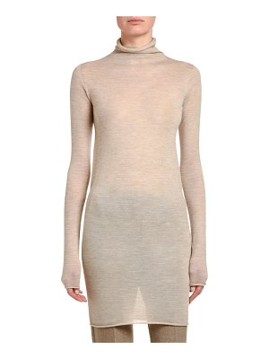 Agnona Tubular Cashmere Jersey Turtleneck Sweater