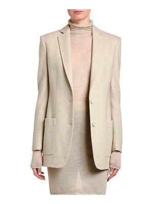 Agnona Wool-Cashmere Notched Collar Blazer