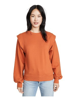 AGOLDE 80's sweatshirt pleated shoulder sweatshirt