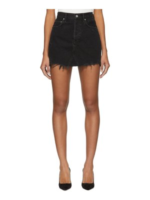 AGOLDE Denim Quinn High Rise Miniskirt