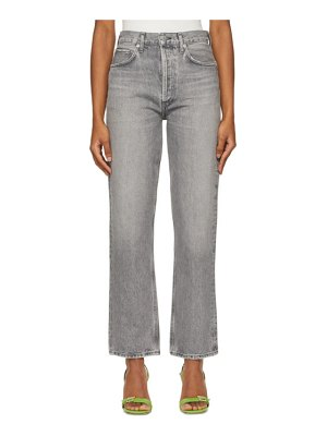 AGOLDE grey 90s pinch high-rise straight jeans