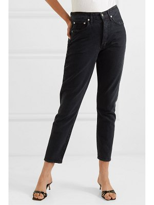 AGOLDE jamie distressed organic high-rise straight-leg jeans