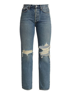 AGOLDE lana low-rise distressed jeans