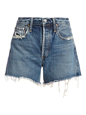 AGOLDE reese relax-fit cut-off denim shorts