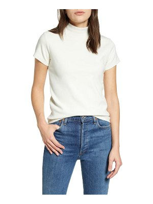 AGOLDE ribbed mock neck tee