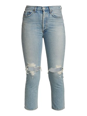 AGOLDE riley ripped crop jeans