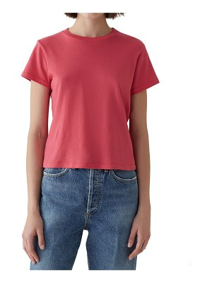 AGOLDE Short-Sleeve Cotton Cropped Baby Tee