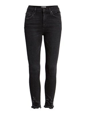 AGOLDE sophie distressed high waist crop skinny jeans