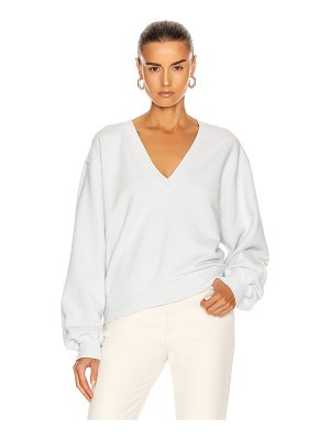 AGOLDE v neck balloon sleeve sweatshirt