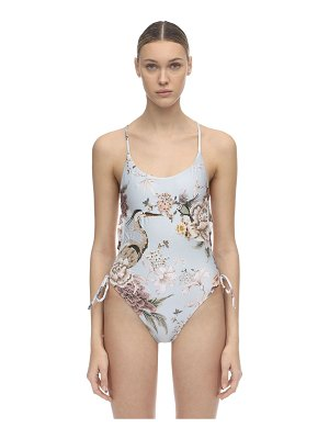 Agua Bendita Stephanie embroidered one piece swimsuit