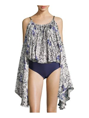 Agua de Coco by liana thomaz Melissa Silk Blend Cover-Up